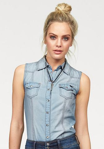 ARIZONA Jeansblouse in mouwloos model