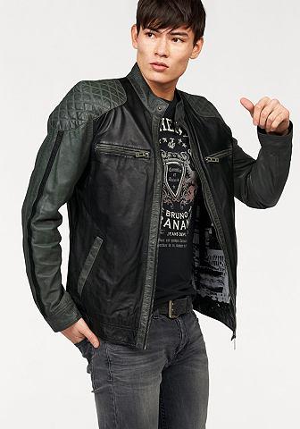 NU 20% KORTING: BRUNO BANANI Leren jack in biker-look