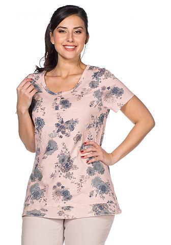 SHEEGO STYLE T-shirt met bloemenprint