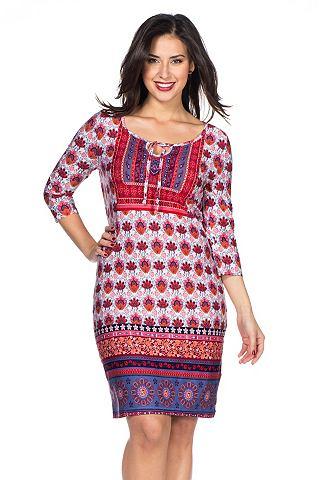 NU 20% KORTING: SHEEGO STYLE Jersey-jurk met driekwartmouwen