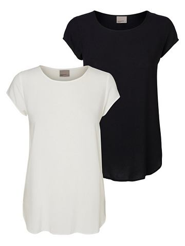 Vero Moda Soft High-Low Overhemd met korte mouwen