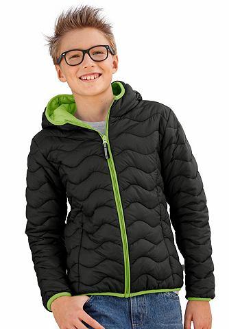 NU 20% KORTING: EXES gewatteerd jack met contrastkleurige pipings, voor jongens