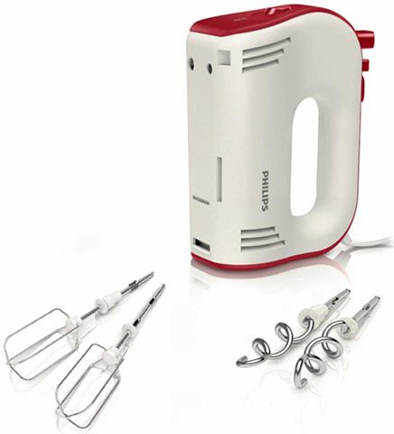 PHILIPS handmixer HR1576/30 Avance Collection, 750 W, wit/rood