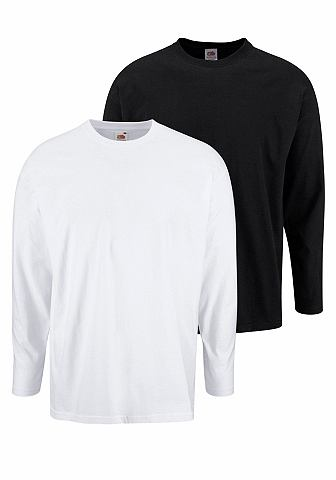 FRUIT OF THE LOOM shirt met lange mouwen in set van 2