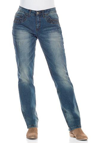 SHEEGO DENIM casual jeans met rechte pijpen