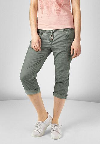 dameskleding chino broek CECIL Casual 3 4 broek groen