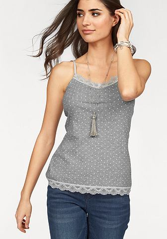 FLASHLIGHTS Top met allover-stippenprint