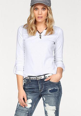 FLASHLIGHTS Aansluitend shirt met lange mouwen