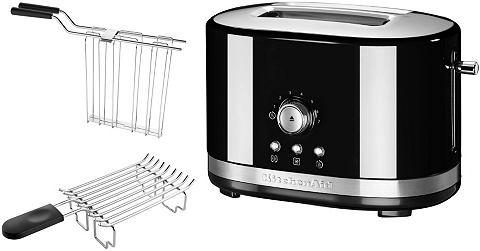 KITCHENAID® handmatige toaster voor 2 sneetjes brood 5KMT2116EOB, onxy zwart