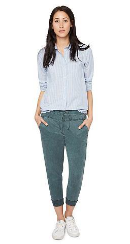 Dameskleding 7_8 broeken TOM TAILOR Broek »loose fit pants  length« groen