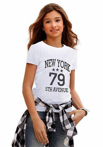 NU 15% KORTING: ARIZONA T-shirt met frontprint, voor meisjes