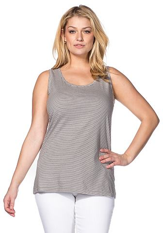 SHEEGO CASUAL Tanktop in streep-look