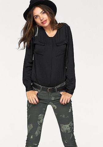 AJC Satijnen blouse met ronde hals
