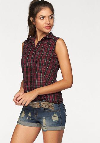 AJC Geruite blouse met modellerende figuurnaden