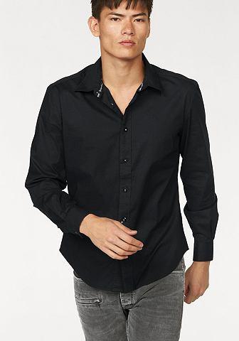 BRUNO BANANI Overhemd met merkborduursel
