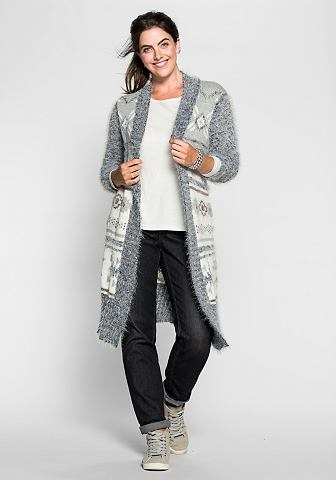 SHEEGO CASUAL cardigan met intarsiamotief