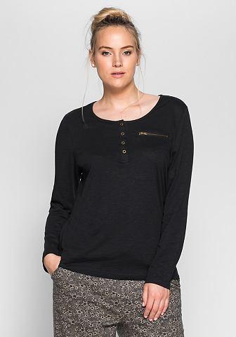 SHEEGO CASUAL shirt met lange mouwen en knoopsluiting