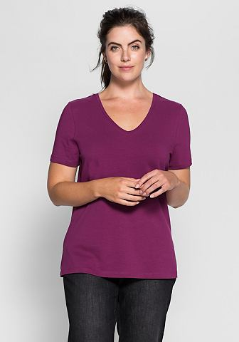 SHEEGO CASUAL T-shirt met V-hals