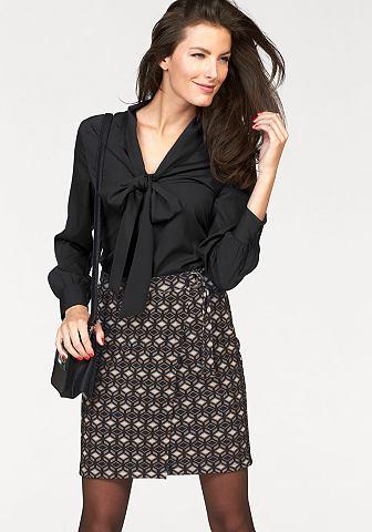 VIVANCE blouse met kraagstrik