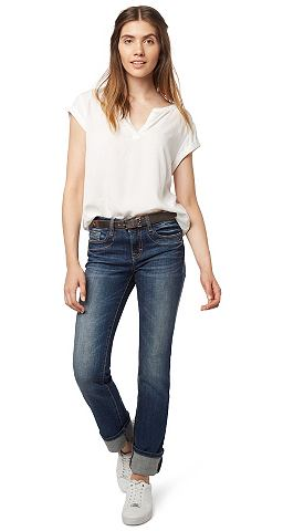 Nu 15% Korting: Tom Tailor Jeans »straight Alexa With Belt«