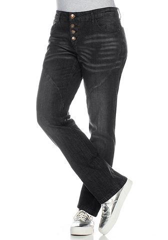 sheego Denim rechte jeans met deelnaden
