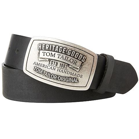 Nu 15% Korting: Tom Tailor Riem »leather Belt In Used Look«
