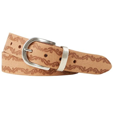 TOM TAILOR riem »leather belt with floral embossing«