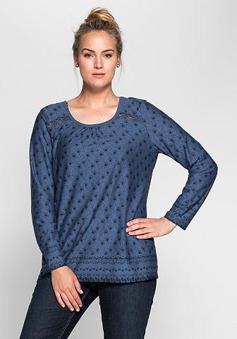 NU 15% KORTING: SHEEGO CASUAL shirt met lange mouwen en gebloemde allover-print