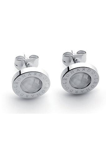 Paar oorstekers, Jewels by Leonardo, 'Matrix wit'