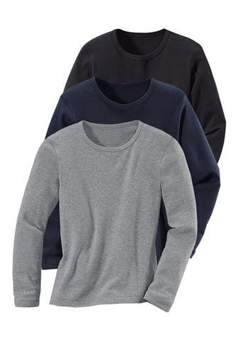 Overhemd met lange mouwen, set van 3