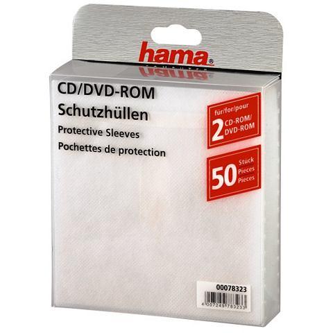 Hama HAMA CD/DVD SLEEVES WIT 50-PAK