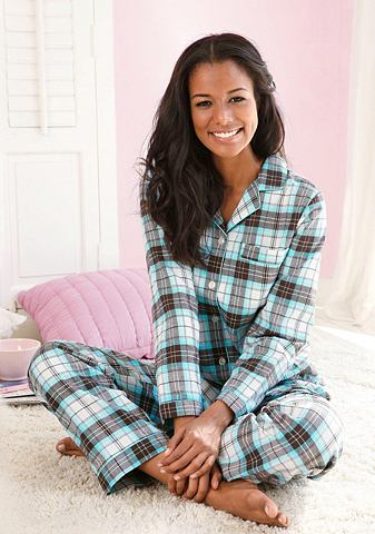 Flanellen pyjama, Vivance Dreams