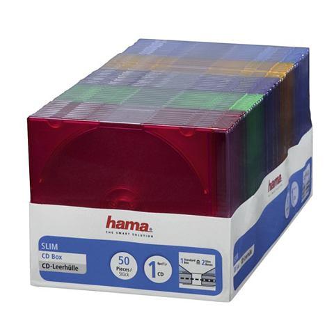 Hama HAMA CD SLIM BOX 50 PAK GEKLEURD