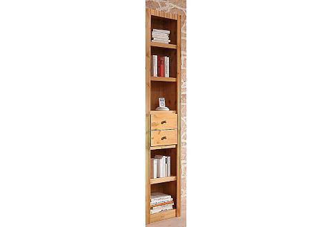 Boekenkast, aanbouwelement, breedte 45,5 cm. Er zitten geen lades in deze boekenkast.