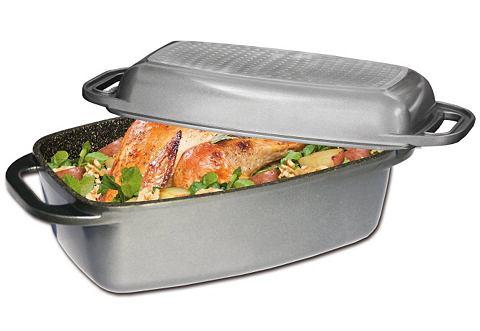 Rechthoekige ovenschaal met gietaluminiumdeksel, Stoneline