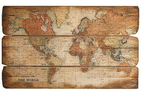 Artprint 'Wereldkaart'
