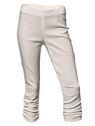 dameskleding chino broek Capribroek beige
