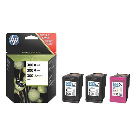 HP Pak van 3 inktpatronen »HP SD518AE« HP 300