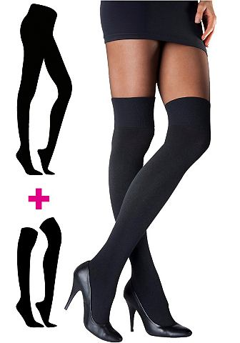 Panty met overknees, LASCANA, 2-delige set