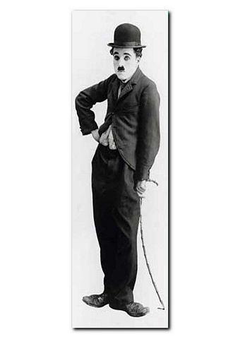 XXL-artprint, Premium Picture, 'Charlie Chaplin, Tramp', afm. 52x150 cm