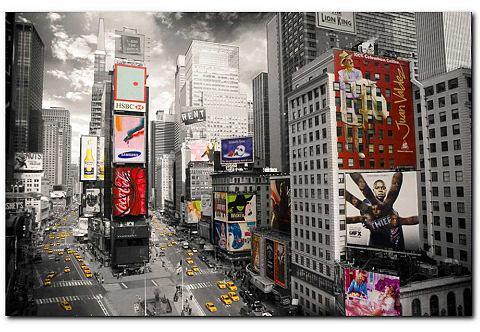 Artprint, Premium Picture, 'Times Square', afm. 90x60 cm