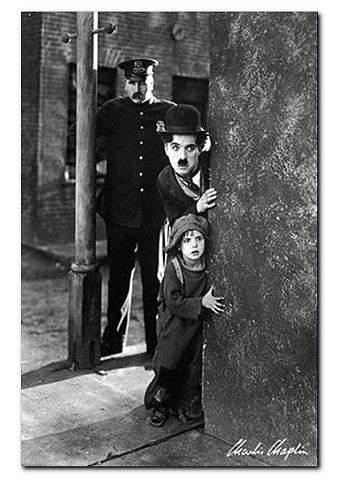 Artprint, Premium Picture, 'Charlie Chaplin, The Kid', afm. 60x90 cm