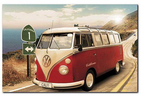 Artprint, Premium Picture, 'VW Bus', afm. 90x60 cm
