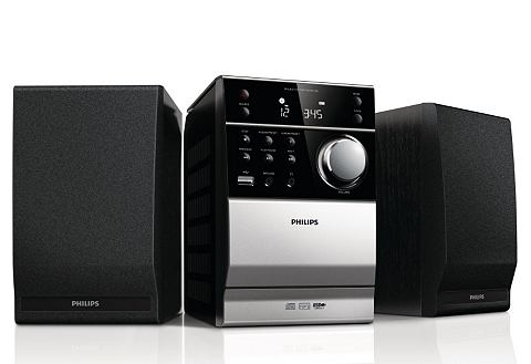 Philips MCM1120 micro-hifi-set, 10 W, CD/USB/MP3/cassette
