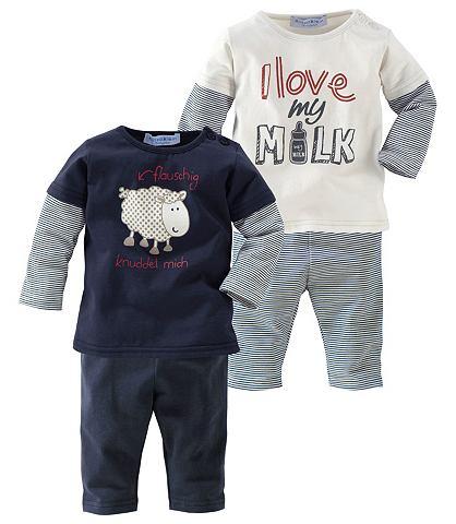 Babyworld 2 shirts met lange mouwen en 2 leggings, 4-delige set