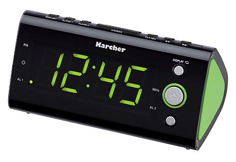KARCHER Wekkerradio UR 1040-G zwart/groen