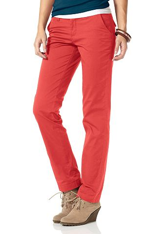 Dameskleding 7_8 broeken AJC stretchbroek rood