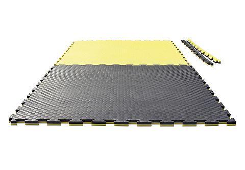 JU-SPORTS Keerbare mat Checker zwart/geel