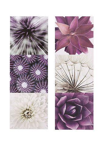 Artprint 'Purple Garden', set van 2