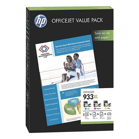 HP Inktpatronenset »HP 933XL« met papier